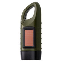 Solar flashlight Dynamo flashlight outdoor multi function emergency lights Solar charge Camping lamp hand flashlight