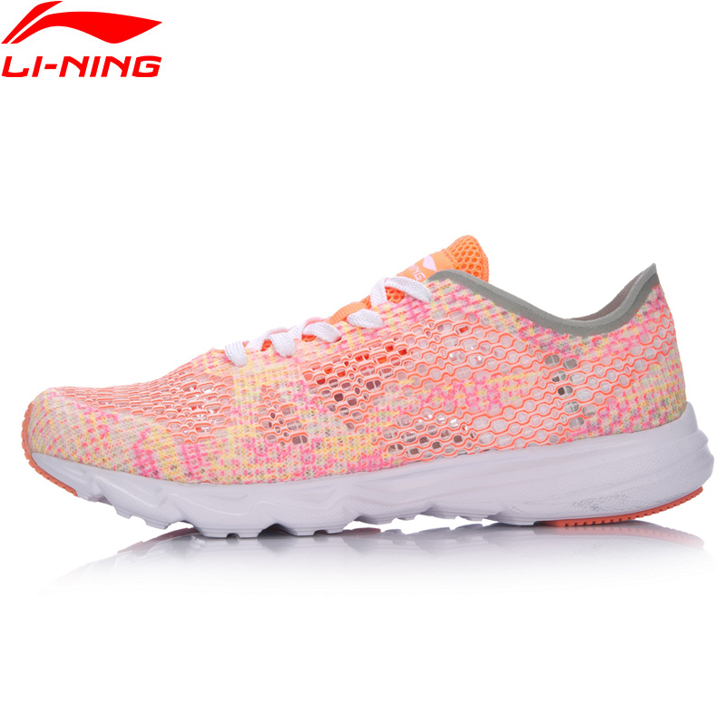 Li-Ning Women Candy Running Shoes Light Weight Textile LiNing Li Ning Breathable Sport Shoes Fitness Sneakers ARBM018 XYP497
