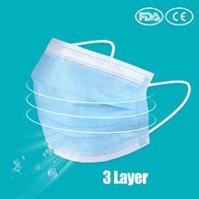 50Pcs Einweg Anti-Staub Atmen Gesicht Mund Masken 3 Schicht Masken Medizinische masken