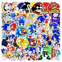 51PCS Cartoon Sonic Hedgehog Anime Graffiti Stickers Decorative Skateboard Phone Suitcase Guitar Toy Sticker Kid Christma Gift