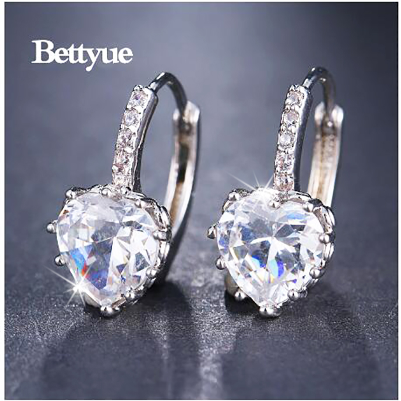 Bettyue Cute Earring Zircon Multicolor Elegant Hearts Shape Jewelry Fashion Trend Design Adorable For Women Party Choice 1
