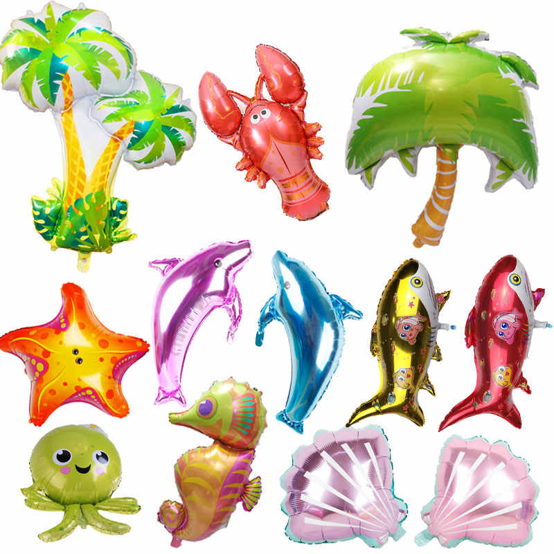 1pc Mermaid Ariel ocean shell Party Supplies Mermaid Tail Balloon Sea animal Party globos Baby Shower Girl Birthday Party toys