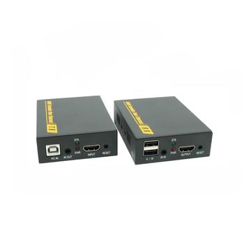 KVM Extender With IR Control 1080P HDMI Over LAN KVM Extender 120m HDMI KVM Extensor By RJ45 Cat5 Cat5e Cat6