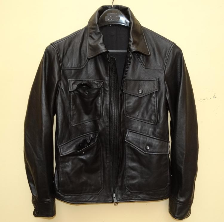 Free shipping.Sales 100% quality Sheepskin leather men casual jackets,mens genuine leather jacket,motorcycle biker.