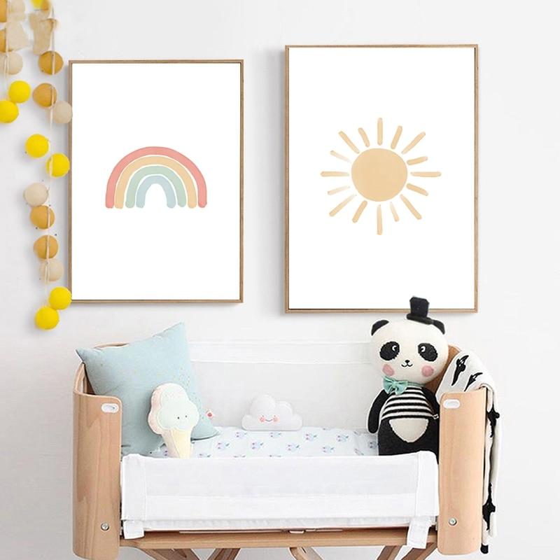 Rainbow Wall Art Print Kids Room Decor