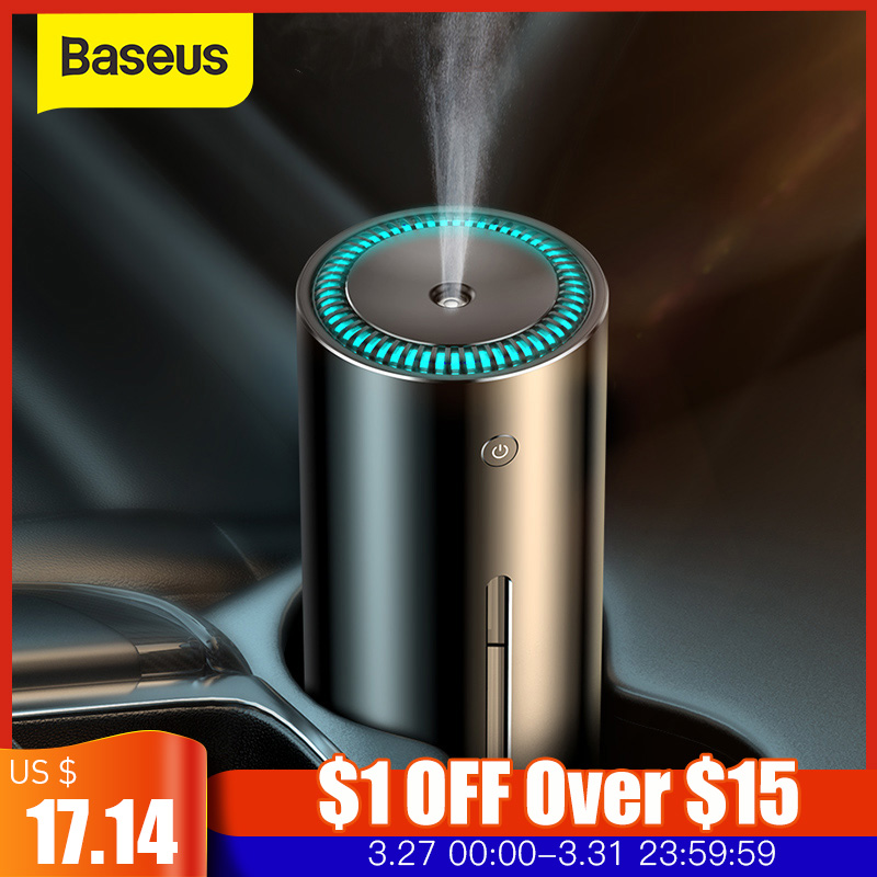 Baseus Humidifier For Car Home Office USB Ultrasonic Aroma Diffuser Aromatherapy Essential Oil Diffuser Air Purifier