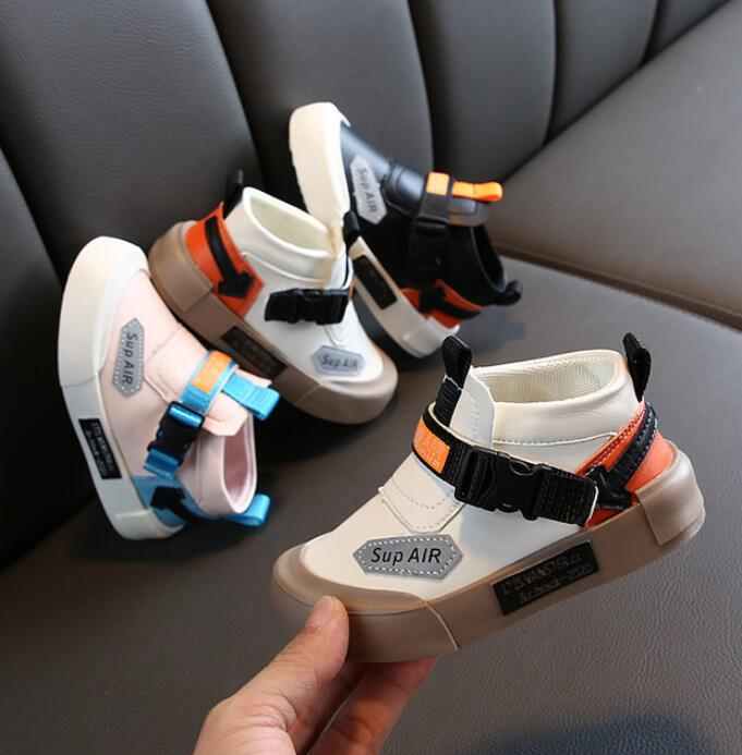 2020 New Brand Toddler Shoes Children White Shoes Fashion Kids Soft Bottom Leather Sport Shoes Running Sneakers For Baby
