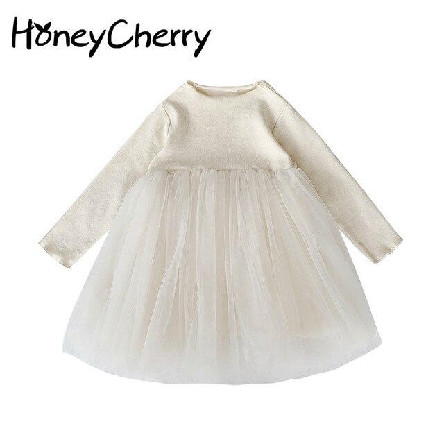 Dziewczęce sukienki w stylu zagranicznym 2020 nowa dziecięca księżniczka Pengpeng i dziecięce sukienki siateczkowe