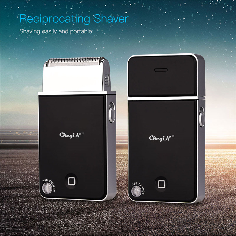 Mini Slim Electric Shaver Razor Portable Men Travel USB Rechargeable Reciprocating Hair Removal Beard Trimmer Face Care Tool