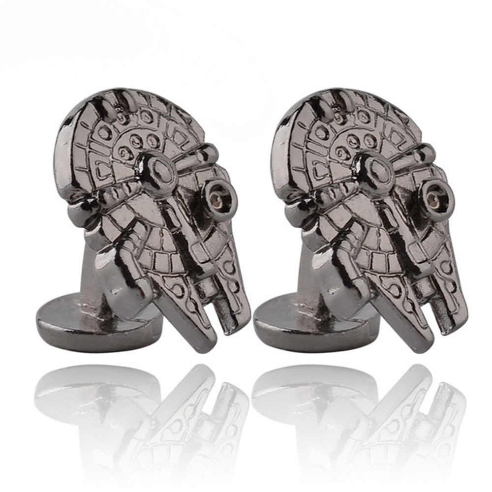 Yıldız savaşları yükselişi Skywalker kol düğmeleri serisi erkek moda takı alaşım aksesuarları fabrika çıkış