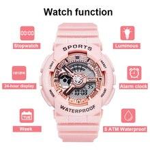 Fashion Women Sport Waterproof  Trendy Digital Watch