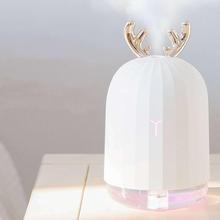 Mini Humidifier Essential-Oil-Diffuser Led-Light Car Aromatherapy Ultrasonic Deer Cool-Mist-Adorable