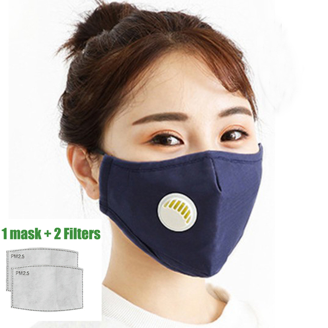 for Men Women PM2.5 Mouth Cotton Mask Anti-Haze Anti Pollution Mask  Activated carbon filter respirator In stock 1
