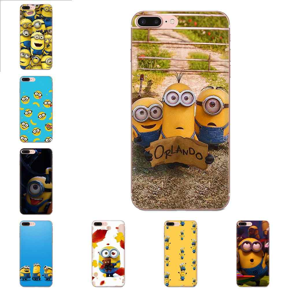 Per LG G2 G3 G4 G5 G6 G7 K4 K7 K8 K10 K12 K40 Mini Plus Dello Stilo ThinQ 2016 2017 2018 Pelle Protettiva morbida Minion Banana