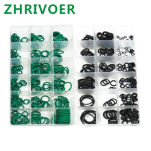 495PCS/pack 36 Sizes O ring Gaskets oil resistance Assortment O-ring Kit Black & Green Metric O ring Seals Watertightness Rubber