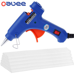 Hot Melt Glue Gun with 7*100MM Glue Sticks 20W Industrial Mini Guns Thermo Electric Heat Temperature Tool