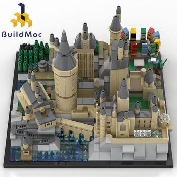 BuildMoc Mini Lepining 16060 25280 Moive Toys Magic Castle Compatible Hogwart's Castle Epic Building Blocks Christmas Gifts Toys image