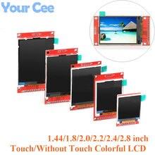 1.44/1.8/2.0/2.2/2.4/2.8 Polegada colorido tft lcd tela módulo de exibição spi serial drive st7735 ili9225 ili9341128 * 128 240*320