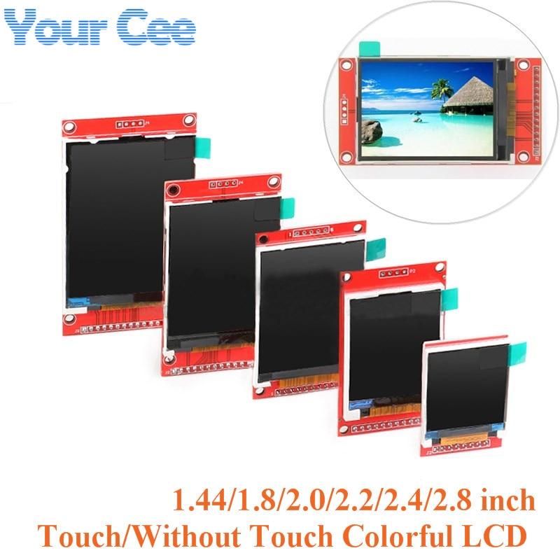Elektronik Bileşenleri ve Malzemeleri'ten LCD Modülleri'de 1.44/1.8/2.0/2.2/2.4/2.8 inç renkli TFT LCD ekran modülü SPI seri sürücü ST7735 ILI9225 ILI9341128 * 128 240*320 title=