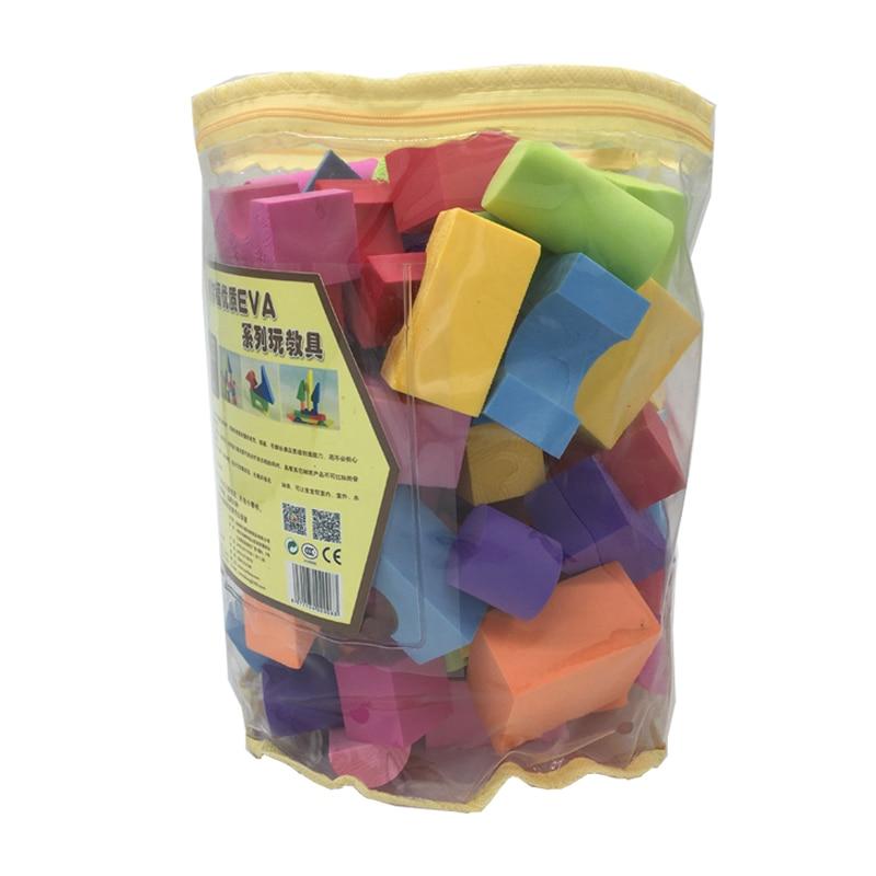 100 PCS EVA Building Blocks For 0-6 Years Old Soft Safe Bricks Enlighten Toys