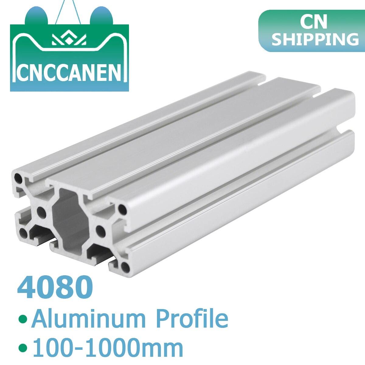 1PC 4080 Aluminum Profile Extrusion 4080 100   1000mm Length European Standard Anodized Linear Rail for DIY CNC 3D Printer Parts|Corner Brackets| |  - title=