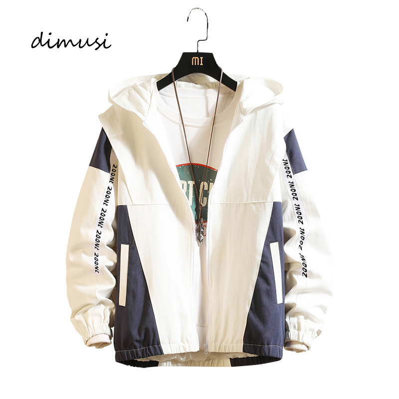 DIMUSI Men's Bomber Jackets Casual Male Outwear Anorak Hoodied Coats Mens Hip Hop Harajuku Pilot Baseball Jackets Clothing