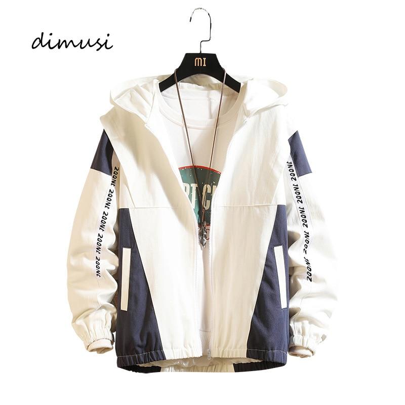 DIMUSI Men's Bomber Jackets Casual Male Outwear Anorak Hoodied Coats Mens Hip Hop Harajuku Pilot Baseball Jackets Clothing