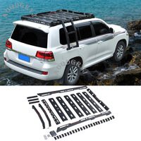 Auto Parts Off road Roof Rack Cargo Luggage Carrier Basket Fit For Land Cruiser LC200 2012 2019