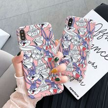 Fashion Cartoon rabbit Phone Case For iPhone