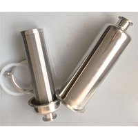 Inline Filter Sanitary SUS304 Sintered Mesh Filter Element Pass through Strainer fit Pipe OD 19/25/32/38MM 100 Mesh