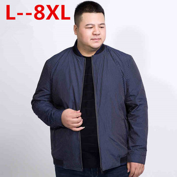 10XL 8XL 6XL 5XL 4XL Jacket Men  Spring New Fashion Thin Coats Bomber Loose Fit Plus Size Outerwear Plus Size Brand Clothing
