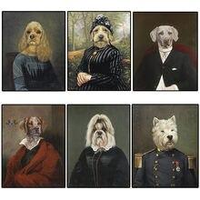 Животные в стиле ретро животные собака искусство на стене виде