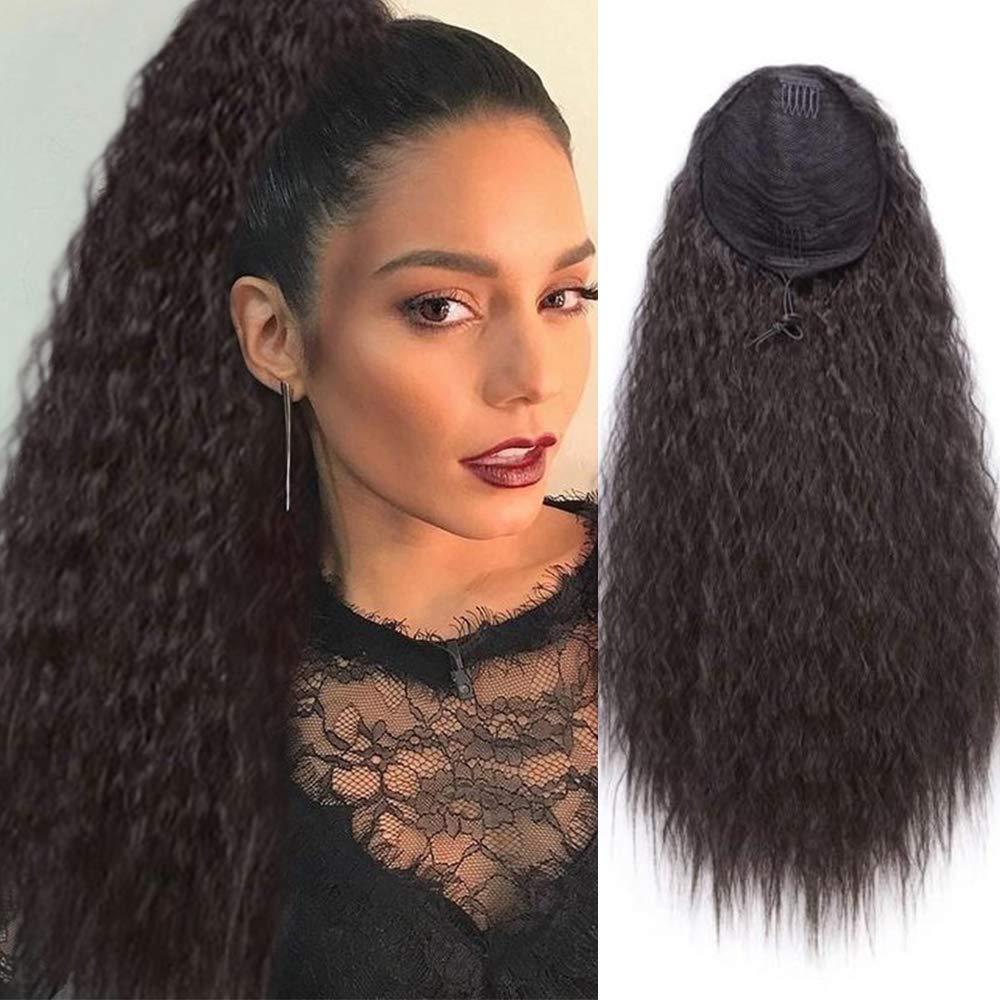Синтетические длинные волосы кукурузной волны на шнурке, накладные волосы на заколках для наращивания, шиньоны для женщин