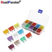 Jeu dassortiment de fusibles à lame pour voiture, camion, moto, 5A, 7.5A, 10A, 15A, 20A, 25A, 30A, 35A, 40A, 50A, avec boîte en plastique, 100 pièces