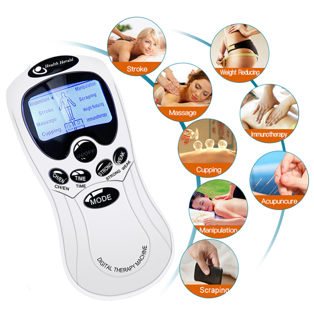 Tens Electrical Stimulator Muscle Massager Dual Input Pulse Acupuncture Therapy EMS Relax Massage Health Care Physiotherapy