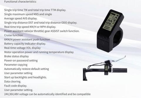 envio gratis ebike 24v 36v 48v kt inteligente painel de controle lcd lcd4 pantalla bicicleta
