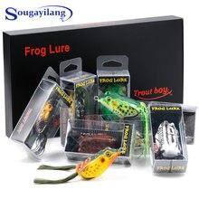 Sougayilang 9 шт/кор ray лягушка мягкие приманки для ловли рыбы