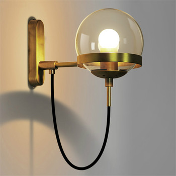 Vintage Wall Light Reading Art Industrial Ball Glass Wall Lamps Bathroom Bedroom Light Led Wall Lights for Home Industrial Decor