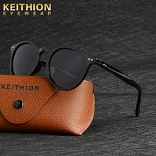 Keithion design unissex ultraleve tr90 polarizado óculos de sol das mulheres dos homens condução redondos tons vintage óculos de sol gafas de sol