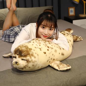 35-85cm duży rozmiar lew morski pluszowa zabawka miękkie nadziewane prawdziwe życie zwierząt Seal poduszka symulacja Appease Doll śliczny prezent dla dziecka dzieci tanie i dobre opinie sweet mu cheng CN (pochodzenie) Tv movie postaci COTTON MATERNITY W wieku 0-6m 7-12m 13-24m 25-36m 4-6y 7-12y 12 + y 18 +