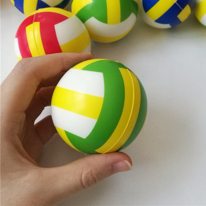 6.3CM Children Mini Volleyball Hand Squeeze Toy Balls Anti Stress Relief Balls Sponge Foam Baby Outdoor Sports Toys for Kids