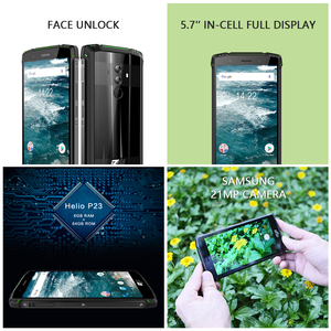 Image 4 - Global Version HOMTOM ZJI Z9 Helio P23 IP68 Waterproof 4G LTE Smartphone 5.7 inch 6GB + 64GB ROM 5500mAh Full Bands Mobile Phone