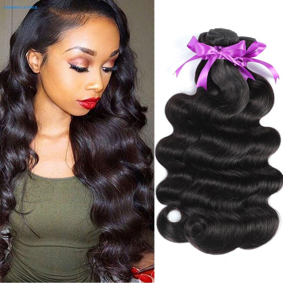 Объемная волна пряди натуральные бразильские волосы, натуральный черный плетение волос Remy человеческие волосы пряди предложения для черный Для женщин Пряди для наращивания волос