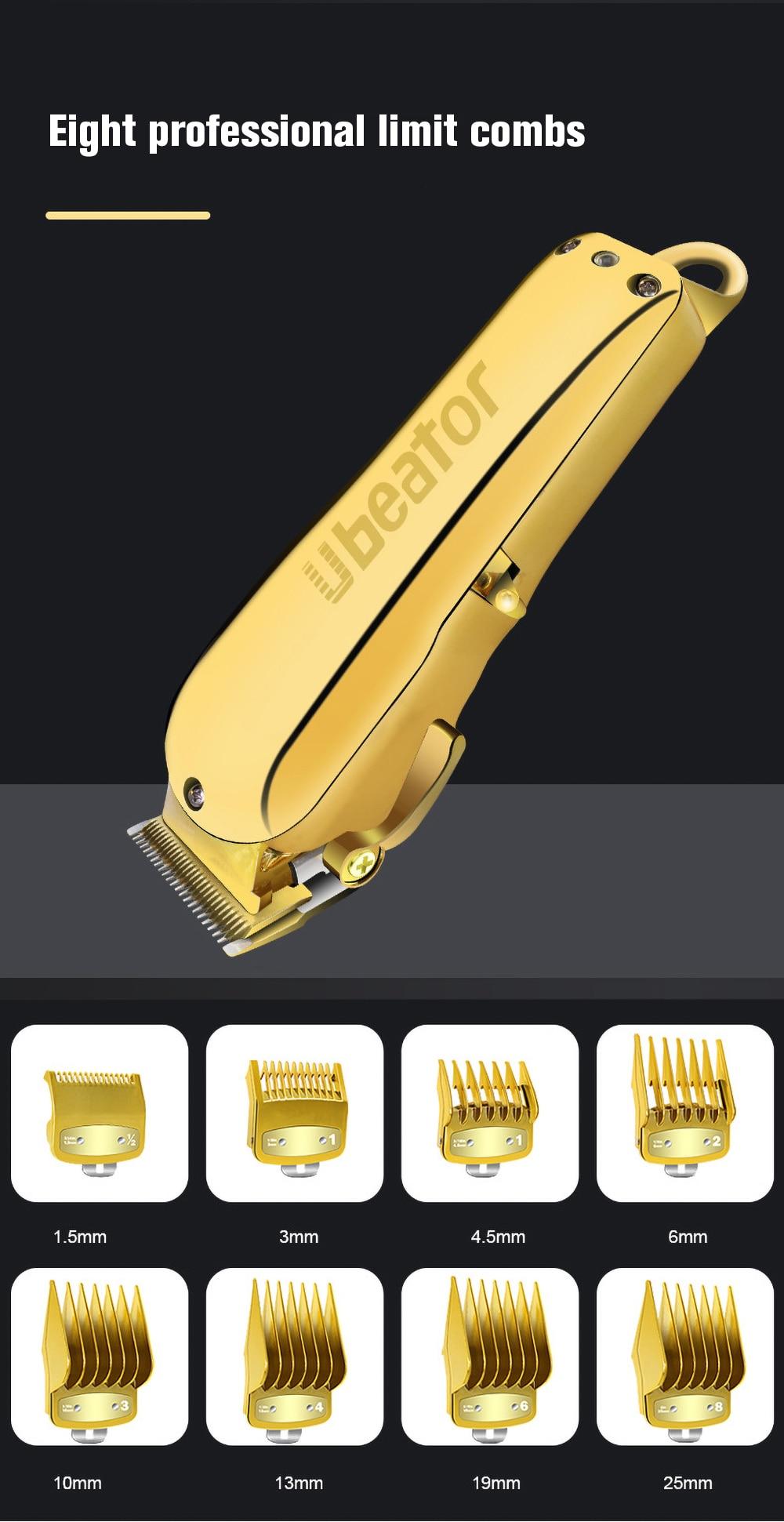 Novo all-metal profissional máquina de cortar cabelo