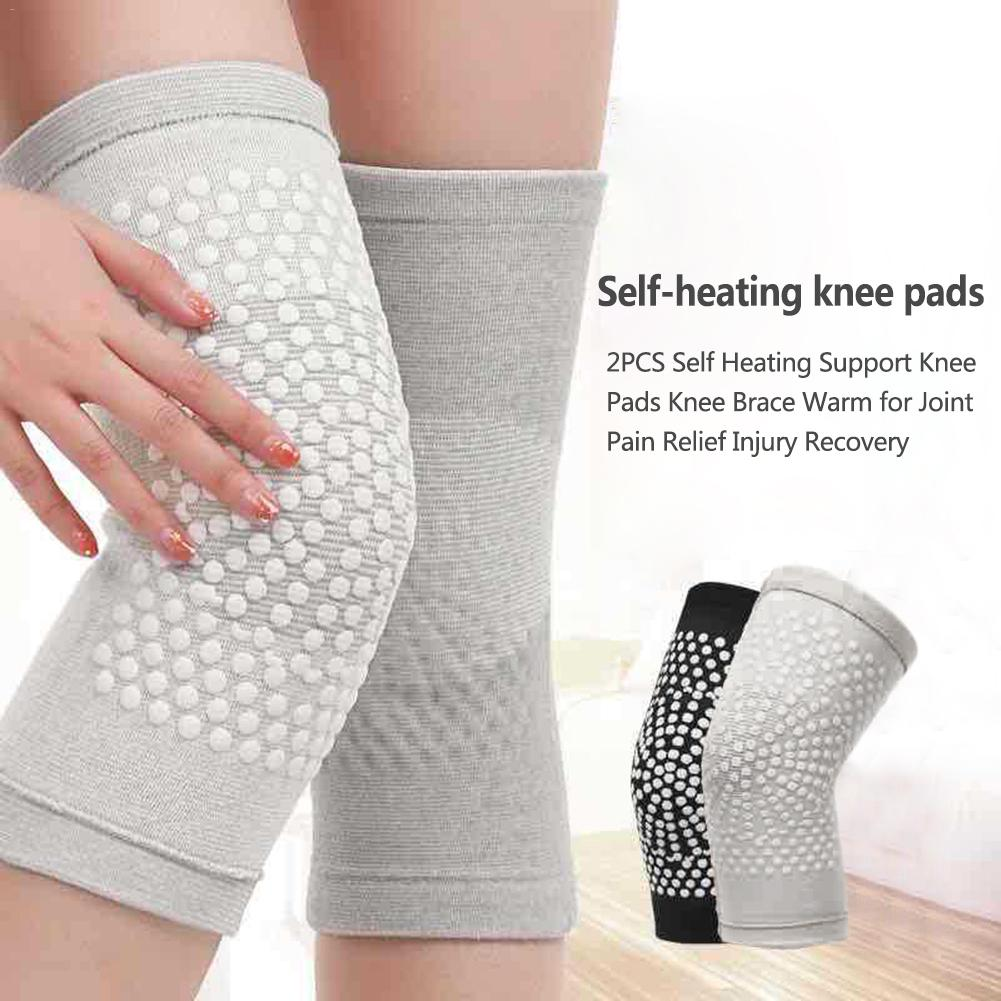 2PCS/Set Self Heating Support Knee Pads Knee Brace Warm Unisex Anti-slip Knee Cover For Joint Pain Relief Injury Recovery 30E
