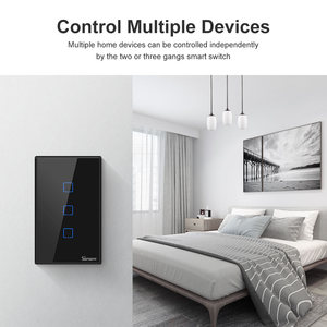 Image 5 - Itead SONOFF T2 T3 US TX Smart Wifi Wall Touch Switch With Border Smart Home Wifi Light Switch 1/2/3 Gang RF 433Mhz Remote