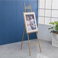 Iron art golden oil painting frame frame landing frame display frame sea newspaper frame photo bracket wedding