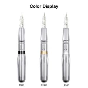 Image 2 - Перманентный макияж машина тату пистолет Профессиональный швейцарский мотор тату ручка для 3D бровей с Biomaser набор Needdles