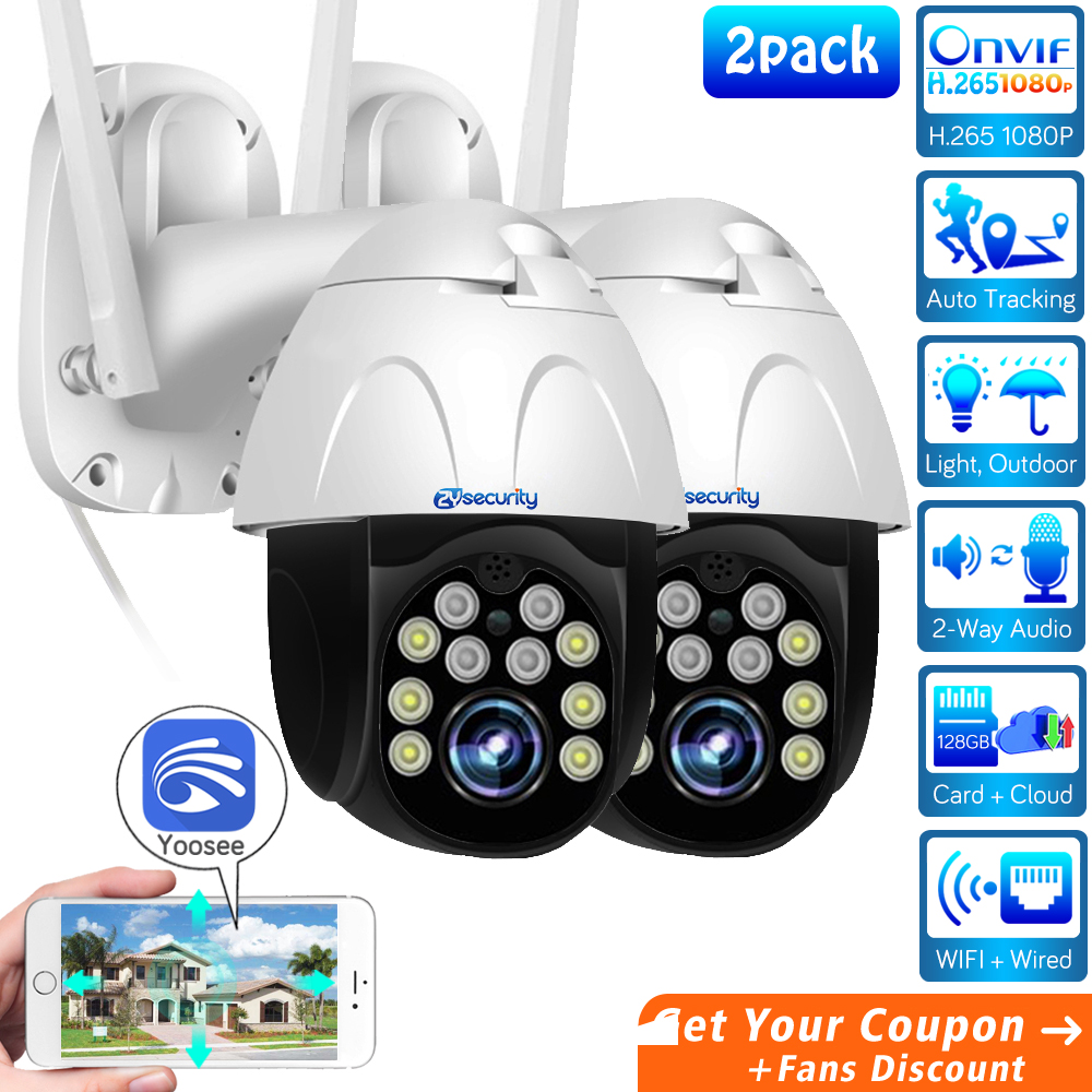 1080p WiFi PTZ Camera Outdoor Wireless Home Security Camera Speed Dome SD Card P2P Cloud CCTV Video Surveillance Camera Yoosee