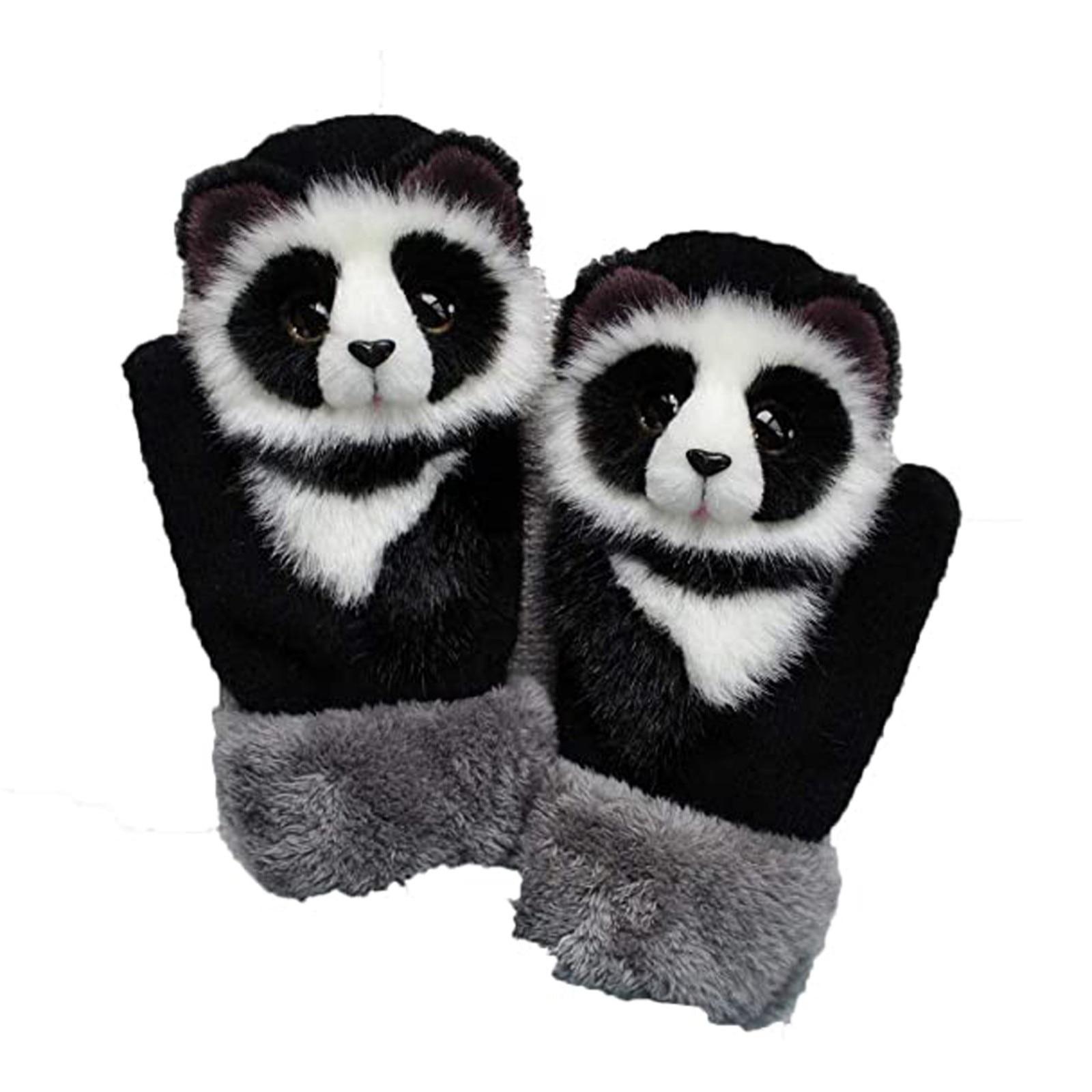 Cat Dog Panda Plus Velvet Thickened Gloves Winter Goves Mens Gloves Ladies And Child Gloves Thermo Fur Gloves Finger Mittens 1